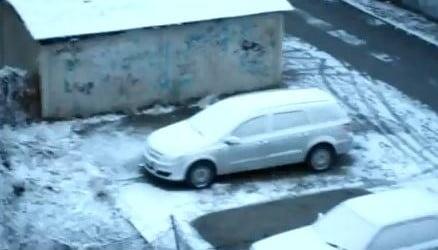 Prima ninsoare zdravana in Bacau