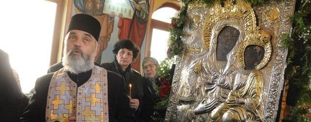 """Icoana facatoare de minuni de la Trifesti, in Biserica """"Intrarea Domnului in Ierusalim"""""""