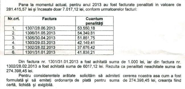 Aeroport Bacau - regie penalitati