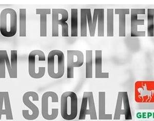 """Campania """"NOI TRIMITEM UN COPIL LA SCOALA"""""""
