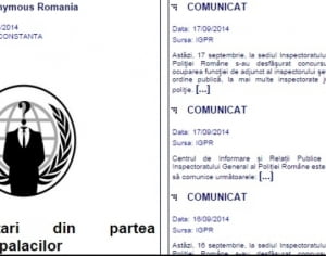Anonymous a spart site-ul Poliţiei Române