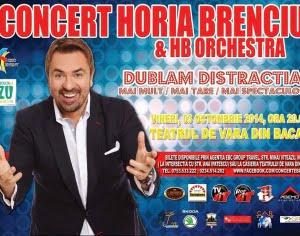 Horia Brenciu vine in concert la Teatrul de Vara din Bacau