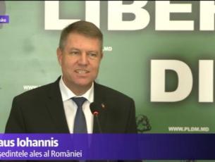 Klaus Iohannis, la Chișinău: Vă promit că România va proteja integritatea teritorială și interesele economice ale Republicii Moldova
