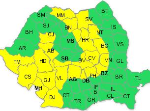 Cod galben de ninsori în județul Bacău. Vezi cât ține