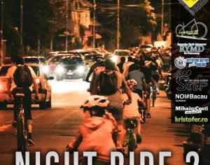 Băcăuanii sunt invitaţi sâmbătă la o plimbare de seară cu bicicletele