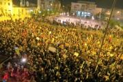 Protest anticorupție de amploare în Bacău. Stavarache și Benea, sub tirul scandărilor. Protestatarii au cerut demisia liderilor din administrație