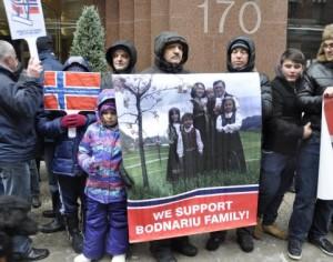 Protest pentru familia Bodnariu în Bacău
