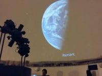 FOTO&VIDEO: Imagini spectaculoase pe bolta Observatorului astronomic din Bacău, proiectate de cea mai modernă aparatură din țară