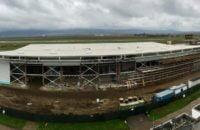 FOTO: Investitia la Aeroportul din Bacau, realizata in proportie de 60%. Finalizarea lucrarilor estimata pentru iunie 2017