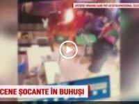 Caz infiorator la Buhusi. Un barbat si-a incendiat sotia la un fast-food din centrul orasului